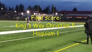 Highlights: King's Way Christian beat Hoquiam 5-1 in 1A district soccer