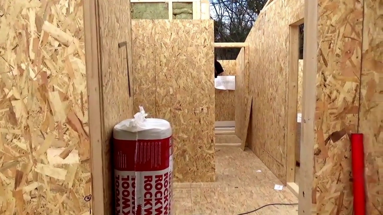 Holz Haus Construction - Holzrahmenhaus Rohbau mit Montage - YouTube