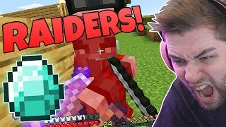 RAIDERS came for MY DIAMONDS in MINECRAFT