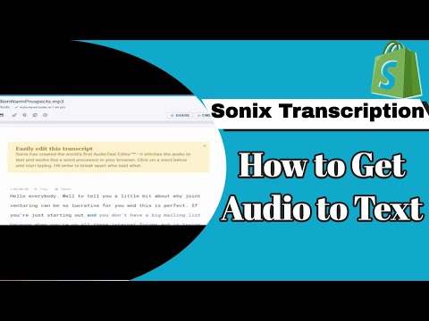 Sonix Transcription - How to get Audio to Text