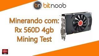 Minerando com uma XFX Rx 560D 4gb (Mining Test)