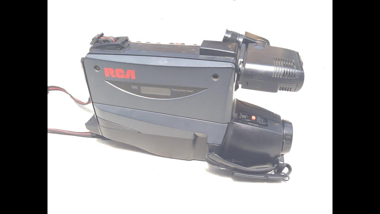 1996 rca cc 436 vhs camcorder my review youtube rh youtube com RCA VHS Camcorder Battery Charger RCA Small Wonder Digital Camcorder