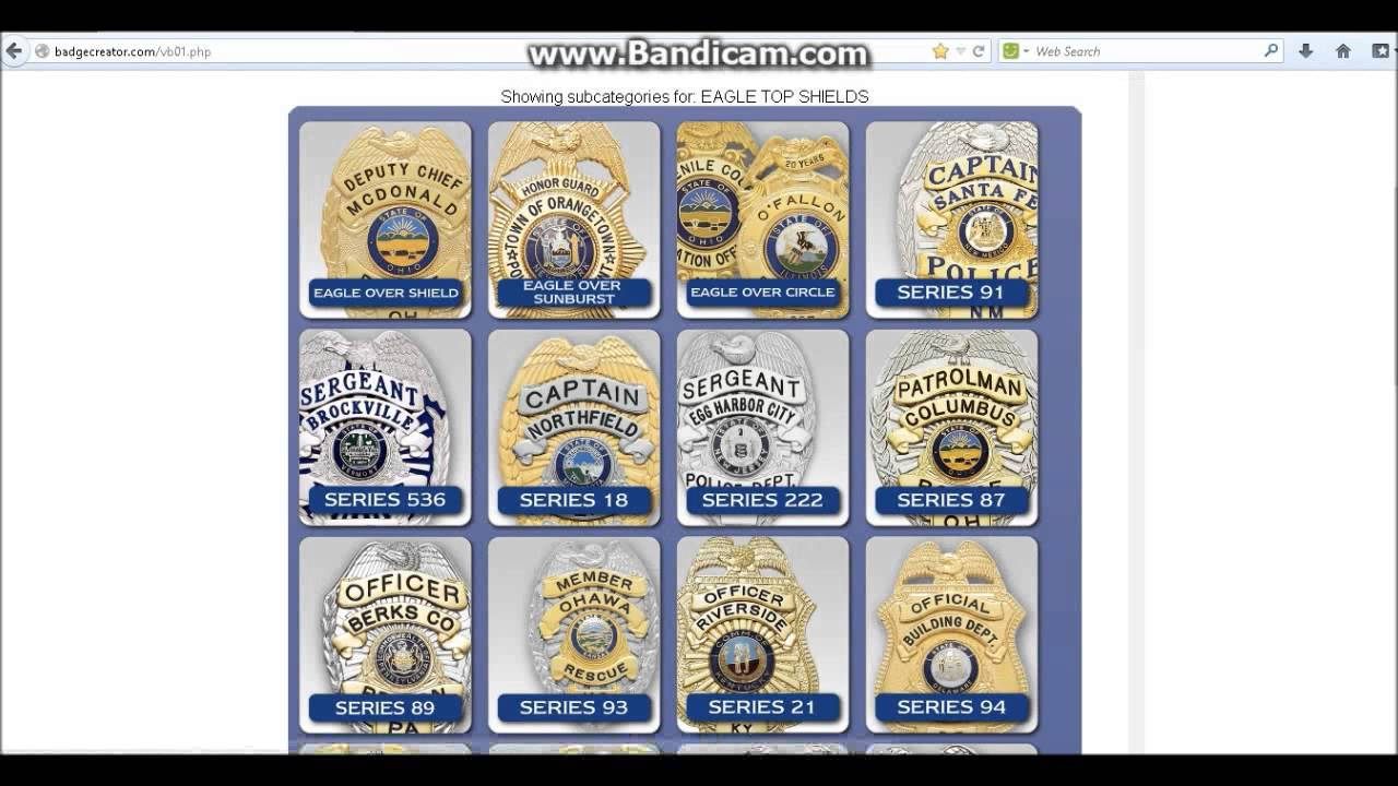 how to make your own virtual police badge youtube