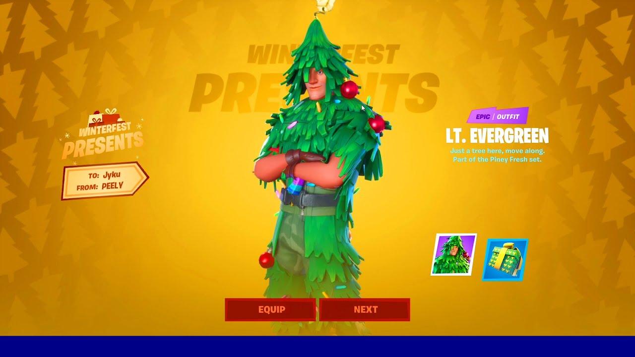 "Fortnite - How To Get SECRET ""CHRISTMAS TREE"" SKIN ..."