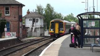 East Midlands Class 158 Trains at Newark Castle Station