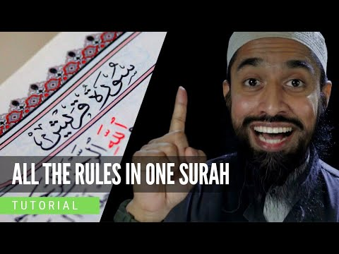 Download All the Rules of Tajweed in One Surah