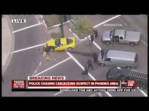 Police chase ends with crash in Phoenix area