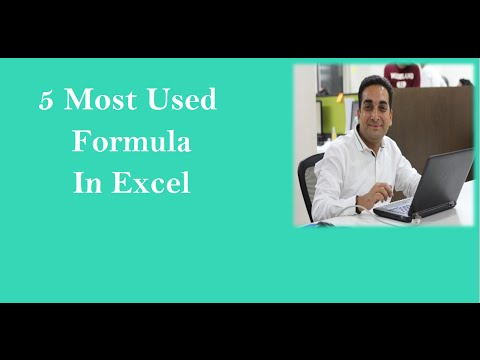 5 Most Used Excel Formula
