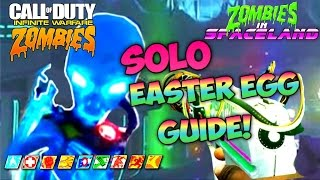 ZOMBIES IN SPACELND SOLO EASTER EGG TUTORIAL! - Infinite Warfare Zombies SOLO EE Strategy BOSS FIGHT
