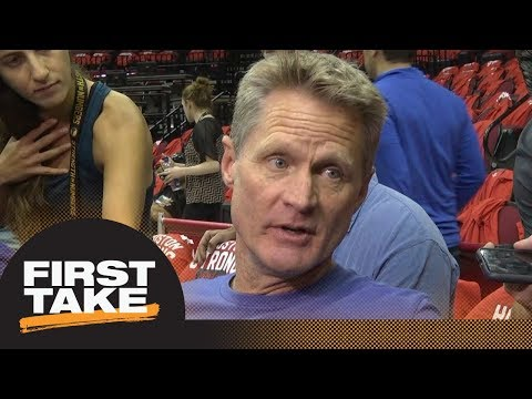 First Take reacts to Steve Kerr calling new NFL national anthem policy 'idiotic'   First Take   ESPN