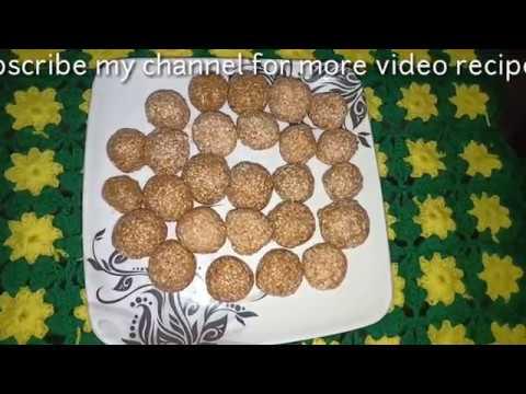 তিলের নাড়ু , TILER NARU , Presented By  Bengali Recipe , MADHUMITA MONDAL
