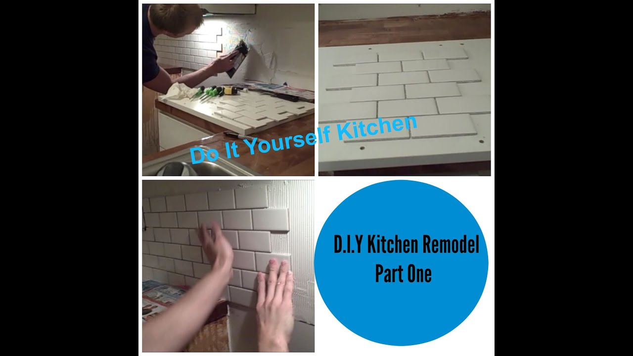 D.I.Y Kitchen Remodel | Part 1 | Husband & Wife kitchen Redo - YouTube