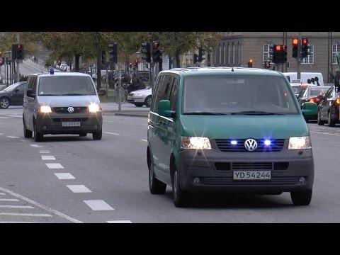 Police Copenhagen 4x Unmarked Vehicles Responding [DK   10.2014]