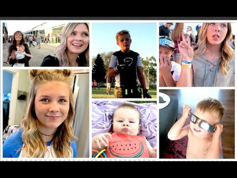 Eclipse, Back to School, Fair & Football!! Weekly Vlog!!