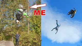 INSANE BACKFLIP CHALLENGE!! With Travis Pastrana