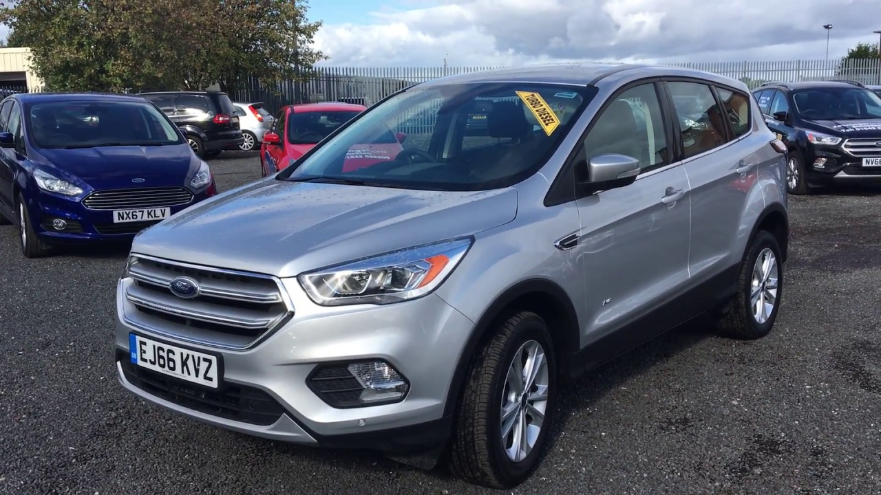 Used Ford Kuga 1.5 EcoBoost 182 Titanium 5dr Auto Moondust Silver 2016 - YouTube