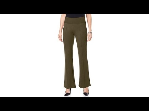 DG2 by Diane Gilman Stretch Ponte Knit BootCut Trouser