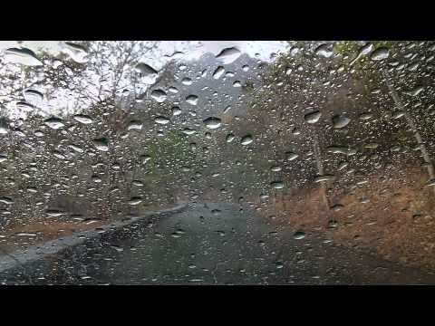 Light rain on a convertible car - Sleep Well! 8 Hours