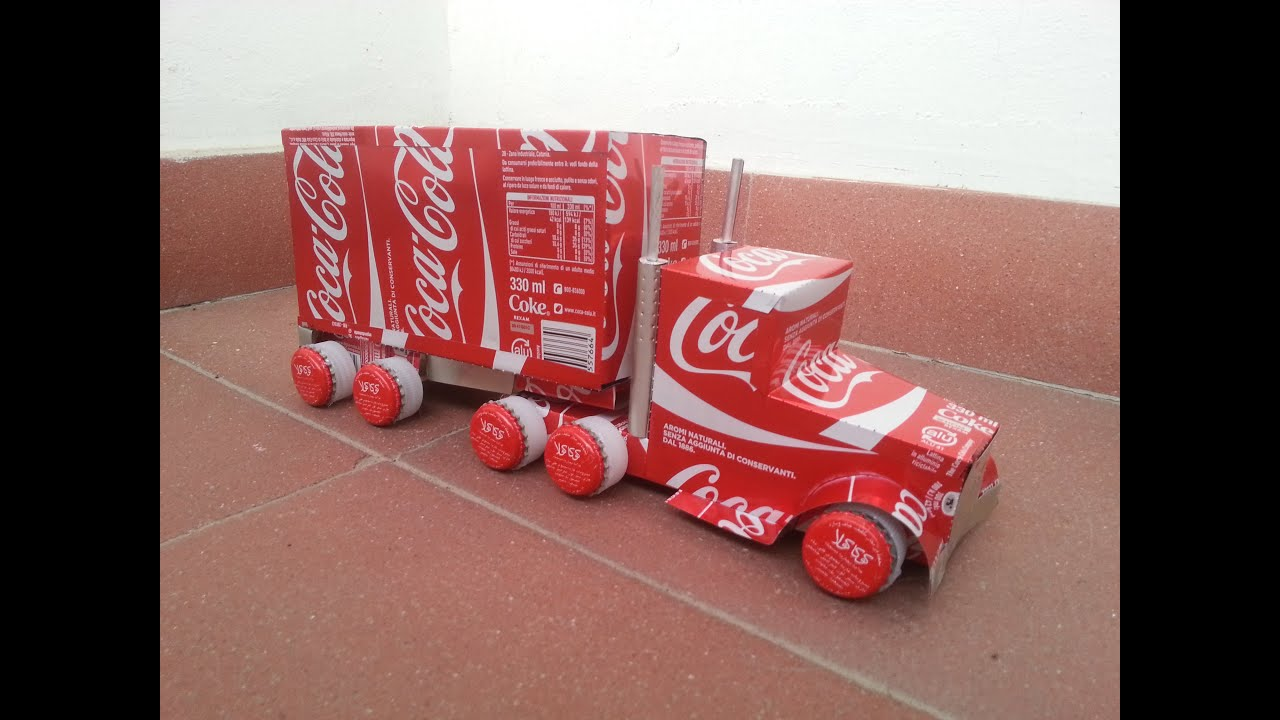 how to make a coca cola can airplane