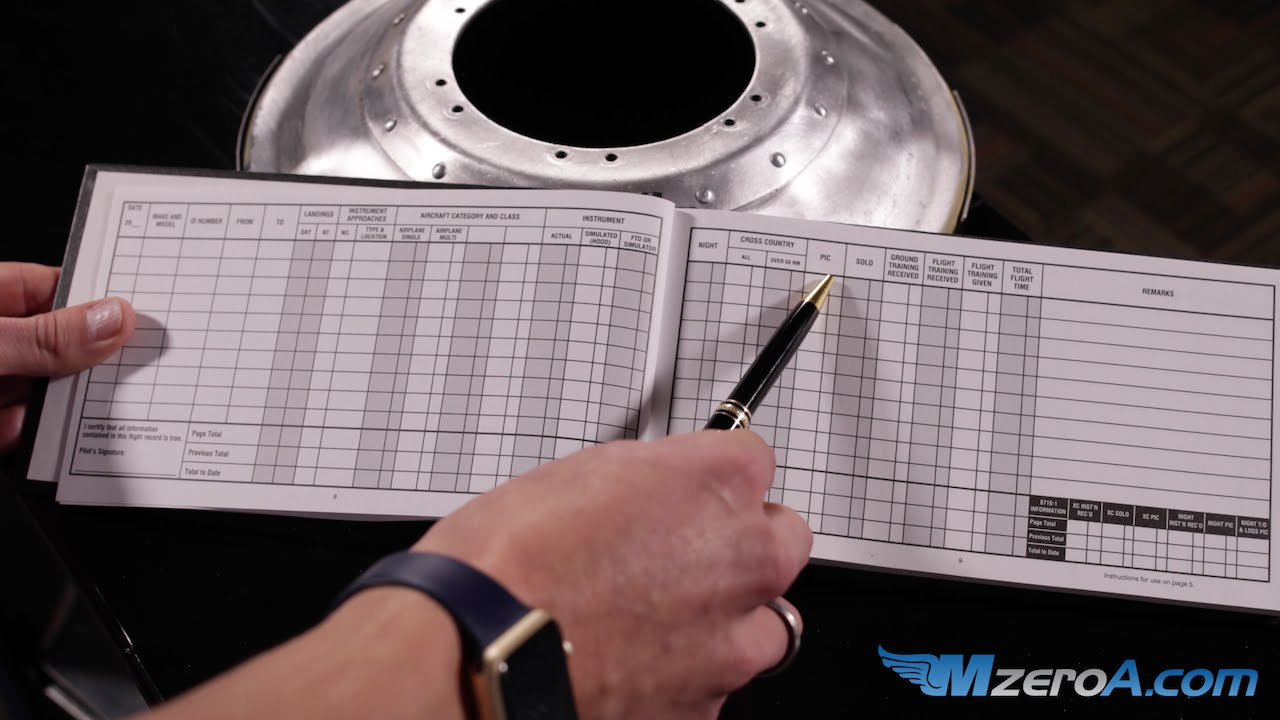 How to fill out your logbook mzeroa flight training youtube maxwellsz