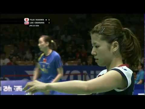 Group (Day 1) - Japan (Fujii/Kakiiwa) vs USA (Lee/Obanana) - Uber Cup 2012