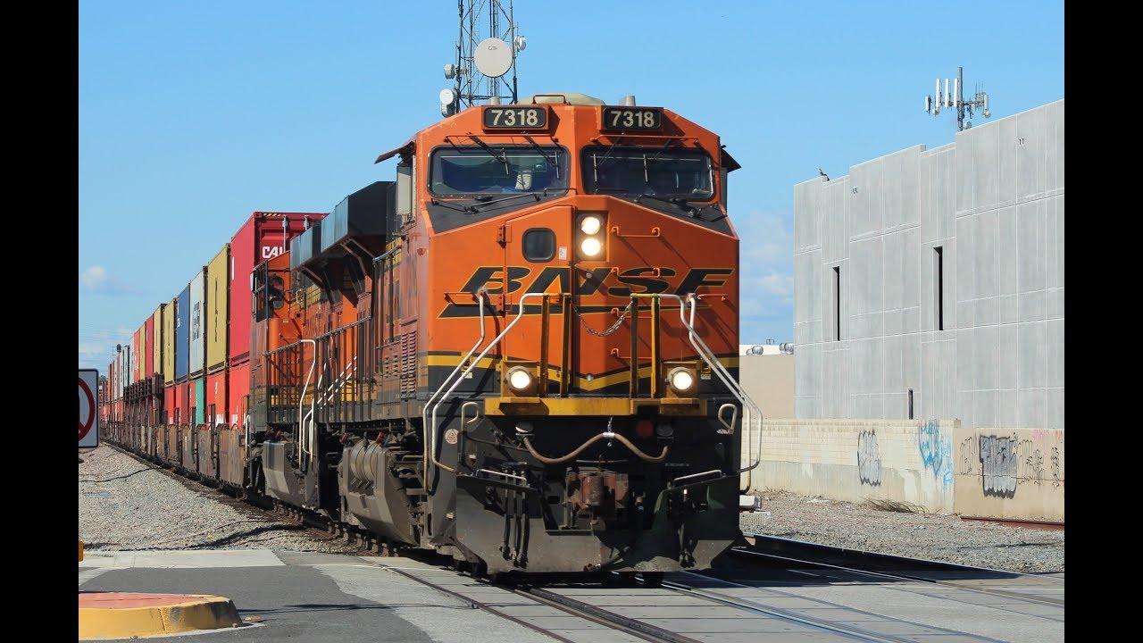 Railfanning Santa Fe Springs, CA - BNSF, Amtrak, and Metrolink Trains