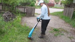 видео Триммер аккумуляторный Gardena EasyCut Li-18/23R