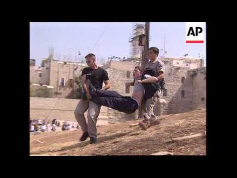 ISRAEL: JERUSALEM: RADICAL JEWS AND POLICE INVOLVED IN ANGRY SCENES