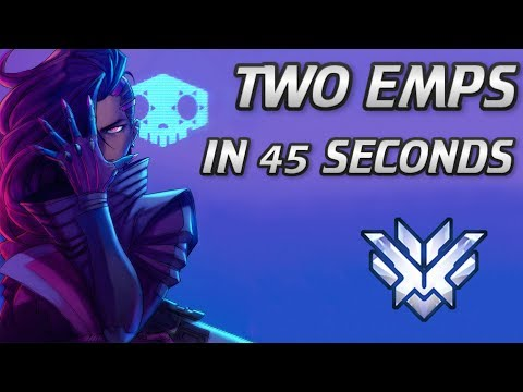 I GOT 2 EMPS IN 45 SECONDS! Overwatch Top 500 Sombra Gameplay