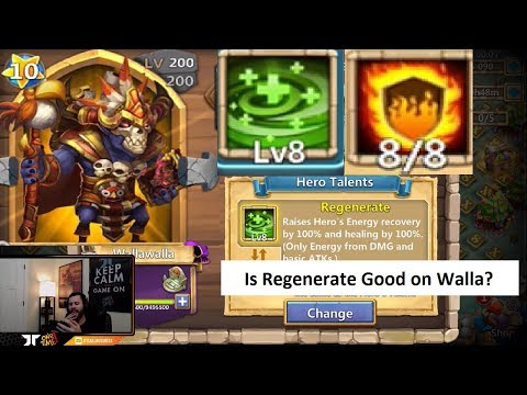 Walla Walla 8 Regenerate VS 8 Flame Gaurd Castle Clash