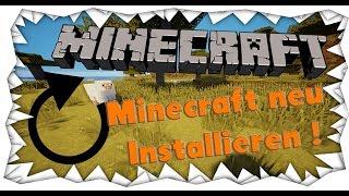 Minecraft neu Installieren - So geht´s [DerStraussenkopf]