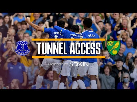 BEHIND THE SCENES FOR ANOTHER GOODISON PROFIT!     TUNNEL ACCESS: EVERTON V NORWICH    PRESENTED BY SOKIN