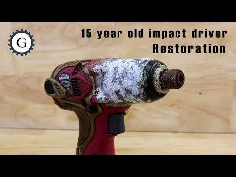15 Year Old Impact Driver Restoration | Hitachi Cordless Oil Pulse Driver, Model WP 12DM