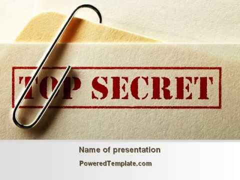 top secret documents powerpoint template by. Black Bedroom Furniture Sets. Home Design Ideas