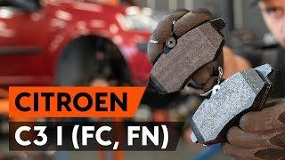 Hvordan udskiftes bremseklosser foran on CITROEN C3 1 (FC, FN) [UNDERVISNINGSLEKTIONER AUTODOC]