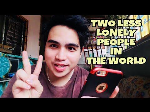 "TWO LESS LONELY PEOPLE IN THE WORLD ""KITA KITA VERSION ( Karaoke time sorry di ko abot kasi mataas )"