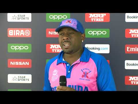 Cricket Captain Dion Stovell After Game vs PNG, October 19 2019