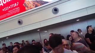 аэропорт Домодедово - паспортный контроль - 1,5 часа