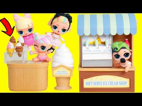 LOL Surprise Dolls Custom Get Married in Ooh La La Ice Cream | Toy Egg Videos