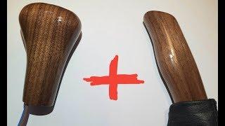 Деревянная ручка КПП + ручка ручника для BMW e46