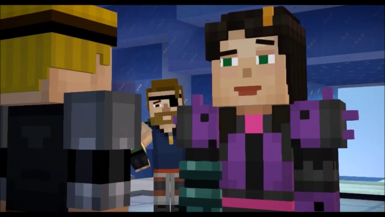 Lukas X Jesse Pretend Minecraft Story Mode Youtube