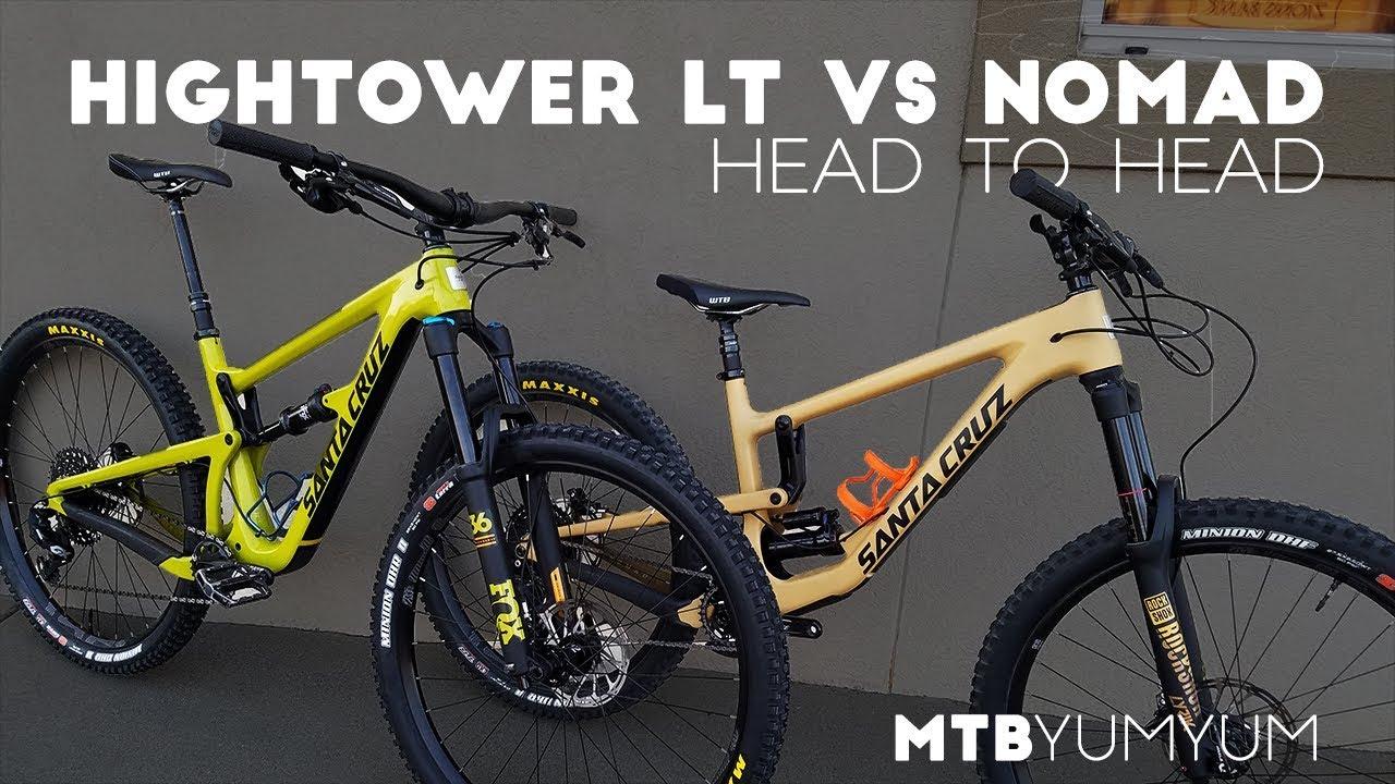 7fc9857cb91 2018 Santa Cruz Hightower LT vs Nomad - YouTube