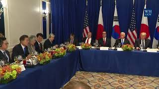 President Trump with the Prime Minister of Japan and President of the Republic of Korea
