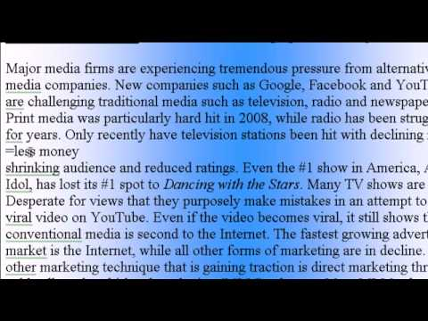 Learn English Article #1 (Media Business)