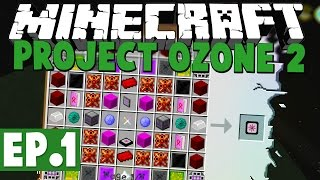 Minecraft Project Ozone 2 Kappa Mode! #1 [Modded HQM Skyblock] with...