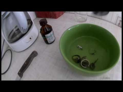 Чищу серебро нашатырным спиртом||Проверка на практике.