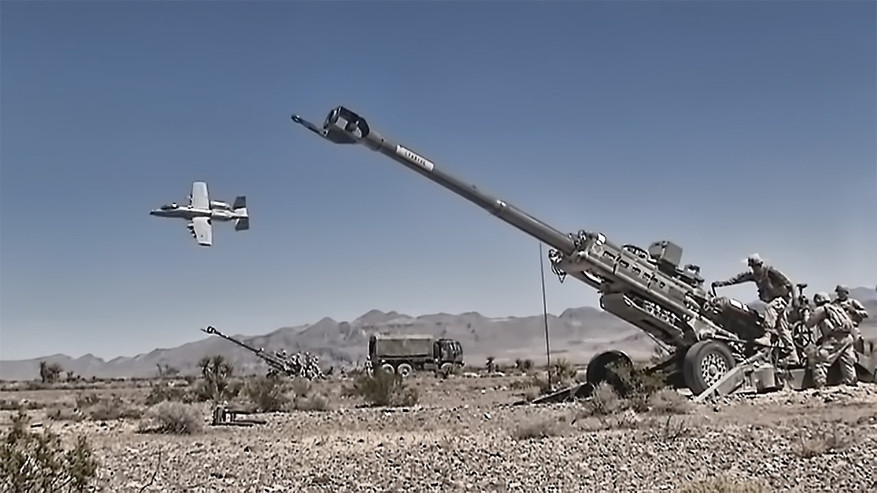 U.S. Army Artillery With A-10 ...