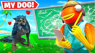 I Trained My DOG In Fortnite!