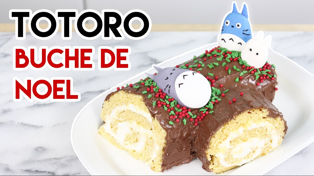 How to make a totoro buche de noel youtube - Decoration pour buche de noel maison ...