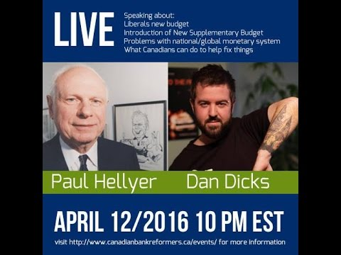 Introducing The Canadian Bank Reformers  - Paul Hellyer on PFT Live